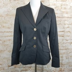 Max Mara Weekend Black Gold Coated Blazer